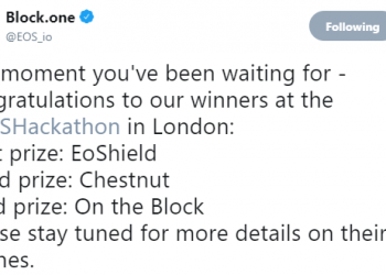 THE WINNERS OF THE 3RD EOS HACKATHON IN LONDON HAVE BEEN ANNOUNCED