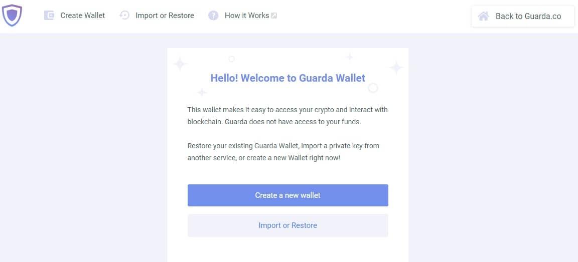 Guarda Wallet site